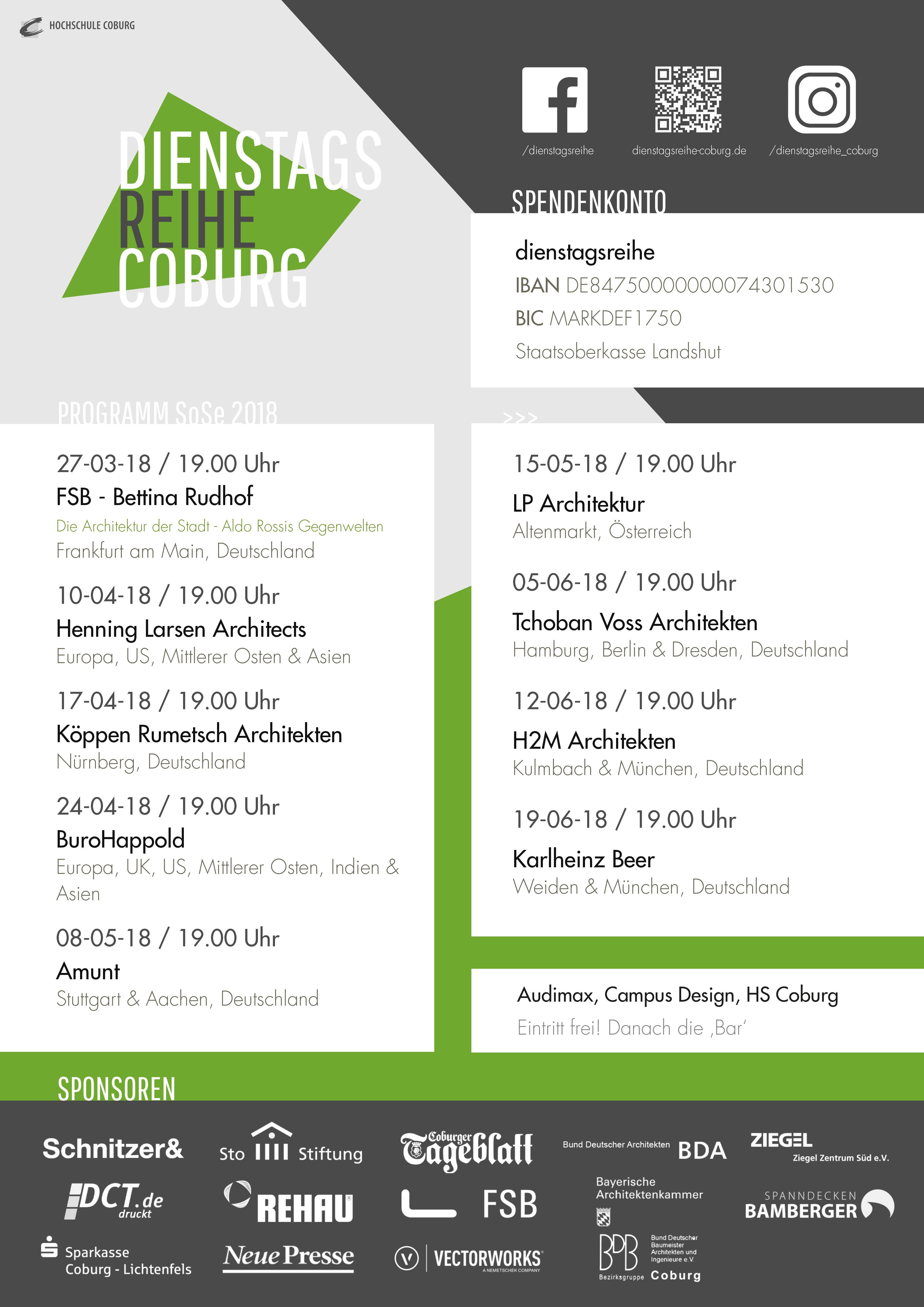 H2m Architekten dienstagsreihe mit h2m architekten hochschule coburg schnitzer